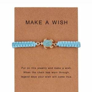 Blue Turtle Make a Wish Bracelet Girl Gift